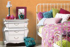 7588-28 cikkszámú tapéta.Egyszínű,különleges felületű,narancs-terrakotta,gyengén mosható,illesztés mentes,papír tapéta