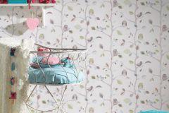 8563-33 cikkszámú tapéta.állatok,gyerek,különleges felületű,rajzolt,természeti mintás,barna,bézs-drapp,kék,zöld,gyengén mosható,papír tapéta