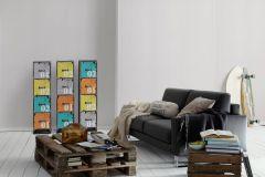 9087-35 cikkszámú tapéta.Egyszínű,különleges felületű,fehér,gyengén mosható,illesztés mentes,papír tapéta
