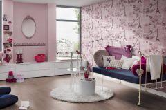 93630-2 cikkszámú tapéta.Feliratos-számos,gyerek,különleges felületű,rajzolt,pink-rózsaszín,gyengén mosható,papír tapéta