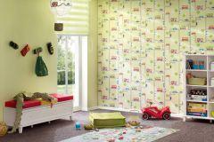93632-2 cikkszámú tapéta.Dekor,gyerek,különleges felületű,rajzolt,fehér,fekete,piros-bordó,szürke,zöld,gyengén mosható,illesztés mentes,papír tapéta