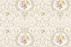 34391-2 cikkszámú tapéta.Barokk-klasszikus,különleges felületű,különleges motívumos,metál-fényes,rajzolt,virágmintás,bézs-drapp,bronz,fehér,lila,narancs-terrakotta,piros-bordó,sárga,szürke,súrolható,vlies tapéta