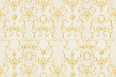 34392-1 cikkszámú tapéta.Barokk-klasszikus,csíkos,különleges felületű,különleges motívumos,metál-fényes,rajzolt,virágmintás,arany,fehér,vajszín,súrolható,vlies tapéta