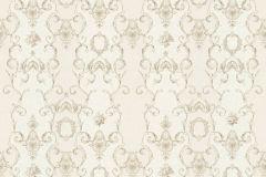 34392-2 cikkszámú tapéta.Barokk-klasszikus,csíkos,különleges felületű,különleges motívumos,metál-fényes,rajzolt,virágmintás,bronz,vajszín,súrolható,vlies tapéta