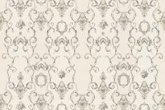 34392-3 cikkszámú tapéta.Barokk-klasszikus,csíkos,különleges felületű,különleges motívumos,metál-fényes,rajzolt,virágmintás,bronz,vajszín,súrolható,vlies tapéta