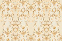 34392-5 cikkszámú tapéta.Barokk-klasszikus,csíkos,különleges felületű,különleges motívumos,metál-fényes,rajzolt,virágmintás,arany,vajszín,súrolható,vlies tapéta