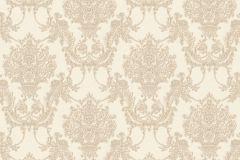 34492-1 cikkszámú tapéta.Barokk-klasszikus,különleges felületű,textil hatású,virágmintás,bézs-drapp,súrolható,vlies tapéta