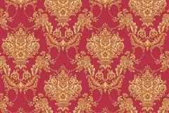 34492-2 cikkszámú tapéta.Barokk-klasszikus,különleges felületű,textil hatású,virágmintás,arany,súrolható,vlies tapéta
