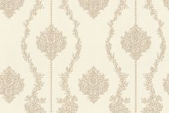 34493-1 cikkszámú tapéta.Barokk-klasszikus,csíkos,különleges felületű,különleges motívumos,textil hatású,virágmintás,bézs-drapp,súrolható,vlies tapéta