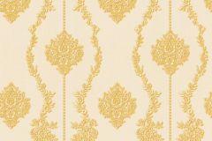 34493-4 cikkszámú tapéta.Barokk-klasszikus,csíkos,különleges felületű,különleges motívumos,textil hatású,virágmintás,arany,bézs-drapp,súrolható,vlies tapéta