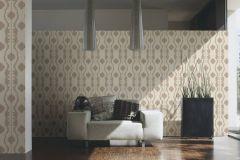 34493-5 cikkszámú tapéta.Barokk-klasszikus,csíkos,különleges felületű,különleges motívumos,textil hatású,virágmintás,bézs-drapp,bronz,súrolható,vlies tapéta