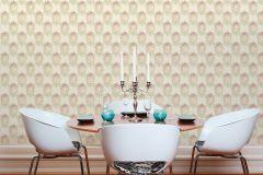 34499-2 cikkszámú tapéta.Barokk-klasszikus,csíkos,különleges felületű,különleges motívumos,textil hatású,virágmintás,bézs-drapp,pink-rózsaszín,vajszín,zöld,súrolható,vlies tapéta