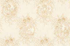 34499-4 cikkszámú tapéta.Barokk-klasszikus,csíkos,különleges felületű,különleges motívumos,textil hatású,virágmintás,bézs-drapp,vajszín,súrolható,vlies tapéta