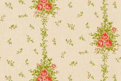 34500-1 cikkszámú tapéta.Barokk-klasszikus,csíkos,különleges felületű,különleges motívumos,textil hatású,virágmintás,bézs-drapp,narancs-terrakotta,zöld,súrolható,vlies tapéta