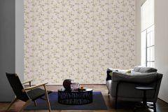 34501-3 cikkszámú tapéta.Barokk-klasszikus,csíkos,konyha-fürdőszobai,kőhatású-kőmintás,különleges felületű,különleges motívumos,rajzolt,természeti mintás,virágmintás,bézs-drapp,ezüst,sárga,szürke,súrolható,vlies tapéta