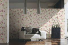 34501-4 cikkszámú tapéta.Csíkos,kőhatású-kőmintás,különleges felületű,különleges motívumos,rajzolt,természeti mintás,virágmintás,bézs-drapp,fehér,narancs-terrakotta,pink-rózsaszín,zöld,súrolható,vlies tapéta