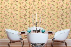 34501-6 cikkszámú tapéta.Csíkos,különleges felületű,különleges motívumos,rajzolt,természeti mintás,virágmintás,fehér,narancs-terrakotta,piros-bordó,zöld,súrolható,vlies tapéta