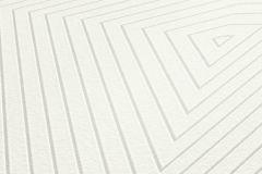 37522-1 cikkszámú tapéta.3d hatású,geometriai mintás,fehér,szürke,lemosható,vlies tapéta