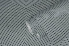 37522-4 cikkszámú tapéta.3d hatású,geometriai mintás,fekete,szürke,lemosható,vlies tapéta