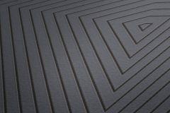 37522-5 cikkszámú tapéta.3d hatású,geometriai mintás,fekete,szürke,lemosható,vlies tapéta