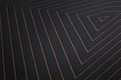 37522-6 cikkszámú tapéta.3d hatású,geometriai mintás,fekete,lemosható,vlies tapéta