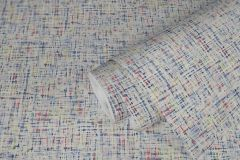 37524-4 cikkszámú tapéta.Textil hatású,textilmintás,fehér,kék,piros-bordó,súrolható,illesztés mentes,vlies tapéta