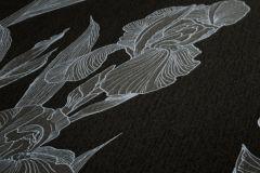 37526-2 cikkszámú tapéta.Természeti mintás,virágmintás,fekete,szürke,súrolható,vlies tapéta