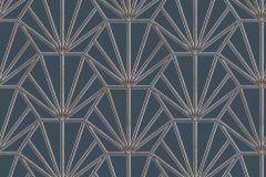 37528-3 cikkszámú tapéta.Geometriai mintás,természeti mintás,kék,szürke,súrolható,vlies tapéta