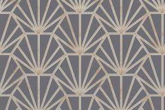 37528-4 cikkszámú tapéta.Geometriai mintás,természeti mintás,barna,bézs-drapp,kék,szürke,súrolható,vlies tapéta