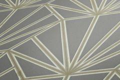 37528-5 cikkszámú tapéta.Geometriai mintás,természeti mintás,bézs-drapp,szürke,súrolható,vlies tapéta