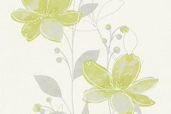 32471-1 cikkszámú tapéta.Metál-fényes,természeti mintás,virágmintás,fehér,szürke,zöld,lemosható,illesztés mentes,vlies tapéta