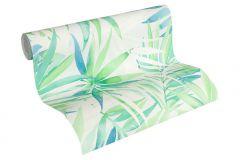 34125-1 cikkszámú tapéta.Rajzolt,természeti mintás,szürke,zöld,fehér,kék,lemosható,vlies tapéta