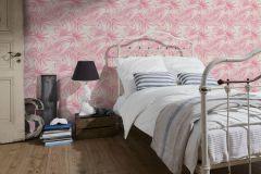 34125-3 cikkszámú tapéta.Rajzolt,természeti mintás,bézs-drapp,fehér,pink-rózsaszín,lemosható,vlies tapéta
