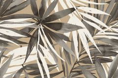 34125-4 cikkszámú tapéta.Rajzolt,természeti mintás,barna,fehér,szürke,lemosható,vlies tapéta