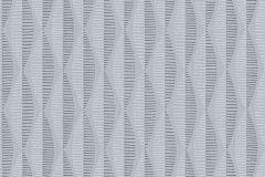 30417-2 cikkszámú tapéta.3d hatású,absztrakt,csíkos,geometriai mintás,különleges felületű,különleges motívumos,rajzolt,retro,fehér,szürke,lemosható,vlies tapéta