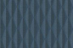 30417-4 cikkszámú tapéta.3d hatású,absztrakt,csíkos,geometriai mintás,gyerek,különleges felületű,különleges motívumos,rajzolt,retro,fekete,kék,szürke,lemosható,vlies tapéta