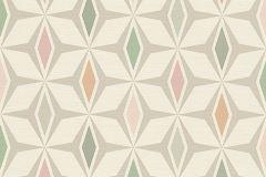 30476-2 cikkszámú tapéta.3d hatású,absztrakt,geometriai mintás,gyerek,különleges felületű,különleges motívumos,rajzolt,retro,bézs-drapp,fehér,kék,narancs-terrakotta,pink-rózsaszín,szürke,zöld,súrolható,vlies tapéta