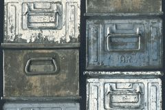 30675-1 cikkszámú tapéta.3d hatású,fémhatású - indusztriális,fotórealisztikus,konyha-fürdőszobai,különleges motívumos,retro,barna,fehér,kék,sárga,szürke,zöld,súrolható,vlies tapéta