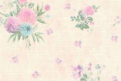 35873-1 cikkszámú tapéta.Különleges felületű,különleges motívumos,retro,virágmintás,kék,lila,pink-rózsaszín,zöld,súrolható,vlies tapéta