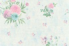 35873-2 cikkszámú tapéta.Különleges felületű,különleges motívumos,virágmintás,kék,pink-rózsaszín,türkiz,zöld,súrolható,vlies tapéta