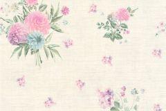 35873-5 cikkszámú tapéta.Különleges felületű,különleges motívumos,virágmintás,kék,lila,pink-rózsaszín,vajszín,zöld,súrolható,vlies tapéta