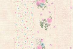 35878-1 cikkszámú tapéta.Csíkos,virágmintás,kék,lila,pink-rózsaszín,zöld,súrolható,vlies tapéta