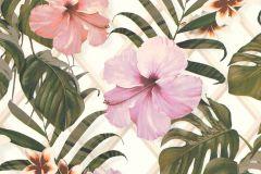 36518-1 cikkszámú tapéta.Természeti mintás,virágmintás,bézs-drapp,fehér,narancs-terrakotta,pink-rózsaszín,zöld,lemosható,vlies tapéta