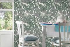 36519-1 cikkszámú tapéta.Különleges felületű,természeti mintás,fehér,zöld,lemosható,vlies tapéta