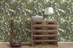 36519-2 cikkszámú tapéta.Különleges felületű,természeti mintás,fehér,zöld,lemosható,vlies tapéta