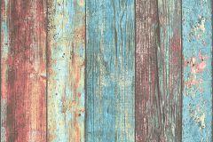 30723-1 cikkszámú tapéta.Csíkos,fa hatású-fa mintás,barna,kék,piros-bordó,súrolható,illesztés mentes,vlies tapéta