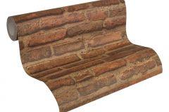 30747-1 cikkszámú tapéta.3d hatású,kőhatású-kőmintás,retro,barna,súrolható,vlies tapéta