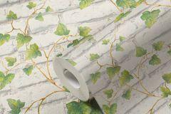 31942-1 cikkszámú tapéta.3d hatású,kőhatású-kőmintás,retro,természeti mintás,fehér,zöld,lemosható,vlies tapéta