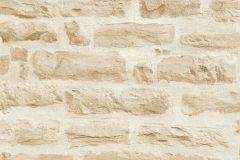 35580-2 cikkszámú tapéta.3d hatású,kőhatású-kőmintás,retro,barna,bézs-drapp,súrolható,vlies tapéta