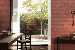35581-1 cikkszámú tapéta.3d hatású,kőhatású-kőmintás,retro,narancs-terrakotta,súrolható,vlies tapéta